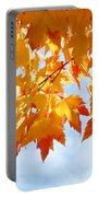 Leaves Nature Art Orange Autumn Tree Leaves Portable Battery Charger