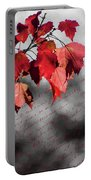 Leaves Of Red Portable Battery Charger