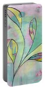 Leaves On Abstract Background Portable Battery Charger