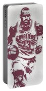 Lebron James Cleveland Cavaliers Pixel Art 4 Portable Battery Charger