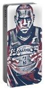 Lebron James Cleveland Cavaliers Pixel Art 54 Portable Battery Charger