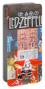 Led Zeppelin Color Collage Portable Battery Charger