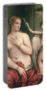 Leda And The Swan Portable Battery Charger by Titian