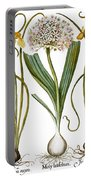 Leek And Irises, 1613 Portable Battery Charger