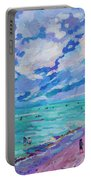 Left Panel Of Triptych Busy Relaxing Portable Battery Charger