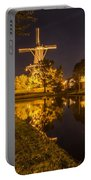 Leiden Windmill By Night Portable Battery Charger
