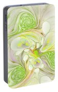 Lemon Lime Curly Portable Battery Charger