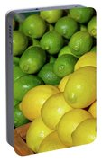 Lemons And Limes At Market Portable Battery Charger