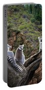 Lemur Family Portable Battery Charger