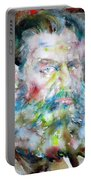 Leo Tolstoy - Watercolor Portrait.6 Portable Battery Charger
