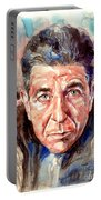 Leonard Cohen Painting Portable Battery Charger