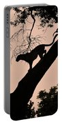 Leopard At Dusk Portable Battery Charger