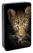 Leopard In The Dark Portable Battery Charger