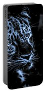 Leopard In The Darkness.  Portable Battery Charger