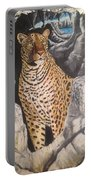 Leopard On The Rocks Portable Battery Charger