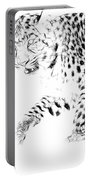 Leopard Spots Black And White Portable Battery Charger