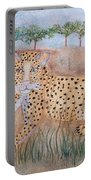 Leopard With Cub Portable Battery Charger