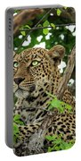 Leopard With Piercing Eyes Portable Battery Charger