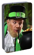 Leprechaun With Pot Of Gold Portable Battery Charger
