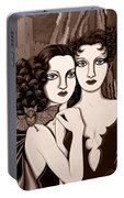 Les Vamperes In Sepia Tone Portable Battery Charger