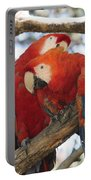 Let Me Get It - Scarlet Macaws Portable Battery Charger