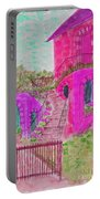 Let Them Eat Cake Multicolor Fuchsia Portable Battery Charger