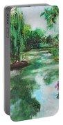 L'etang De Claude Monet, Giverny, France Portable Battery Charger