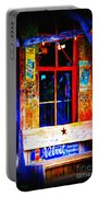 Let's Go To Luckenbach Texas Portable Battery Charger by Susanne Van Hulst