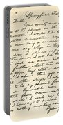 Letter From Abraham Lincoln To Alden Portable Battery Charger