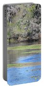 Lettuce Lake With Bridge Portable Battery Charger by Carol Groenen