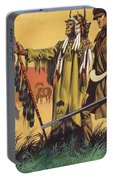Lewis And Clark Expedition Scene Portable Battery Charger