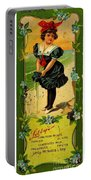 Libbys Bookmark Vintage With Girl On Beach Portable Battery Charger