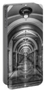 Library Of Congress Building Hallway Bw Portable Battery Charger