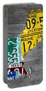 License Plate Map Of New England States Portable Battery Charger