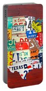 License Plate Map Of The United States - Midsize Portable Battery Charger