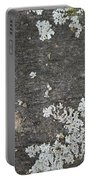 Lichen On Wood Portable Battery Charger
