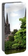 Lichfield Cathedral From Minster Pool Portable Battery Charger