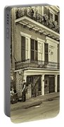 Life In The Quarter - Antique Sepia Portable Battery Charger