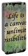 Life Is A Canvas Portable Battery Charger