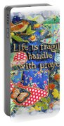 Life Is Fragile Patchwork Portable Battery Charger