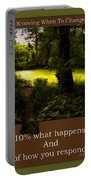 Life Is Knowing When To Change Paths Portable Battery Charger