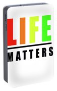Life Matters In Rainbow Portable Battery Charger