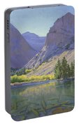 Light At Parker Lake Portable Battery Charger