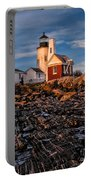 Light At Pemaquid Point Portable Battery Charger