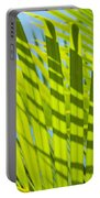 Light Green Palm Leaves Portable Battery Charger