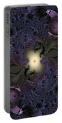 Light In The Fractal Night Portable Battery Charger