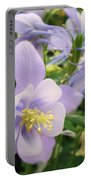 Light Lavender Flowers Portable Battery Charger