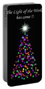 Light Of The World Christmas Card Portable Battery Charger