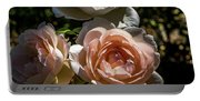 Light Pink Roses Portable Battery Charger