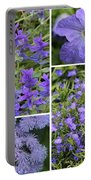 Light Purple Flowers Collage Portable Battery Charger